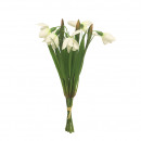 Bunch of snowdrops, 5 flowers, L26cm, white